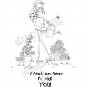 Stamping Bella Unmounted Rubber Stamp, Uptown Girl Pippa Loves To Plant
