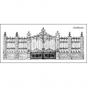 LaBlanche Silicone Stamp, 14cm x 6.4cm , Stately Gate
