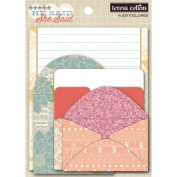 Teresa Collins She Said Envelopes, 4/pkg