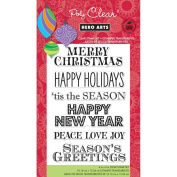 Hero Arts Clear Stamps 10cm x 15cm Sheet, Greetings For The Holiday