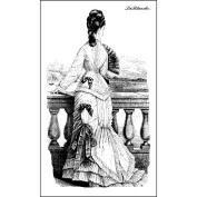 LaBlanche Silicone Stamp, 14cm x 7.6cm , Gazing Lady