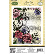JustRite Stampers Cling Background Stamp 11cm x 15cm , French Rose