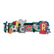 Karen Foster Soccer Stacked Statement 3-D Title Sticker