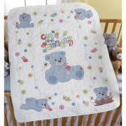 Cute & Cuddly Bear Crib Cover Stamped Cross Stitch Kit, 90cm x 110cm