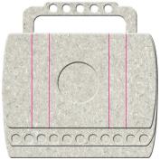 Adrenaline Die-Cut Grey Chipboard Album 25cm x 20cm -Barrel Bag