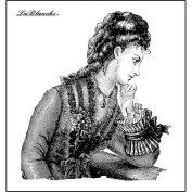 LaBlanche Silicone Stamp, 7.6cm x 7.6cm , Thoughtful Lady
