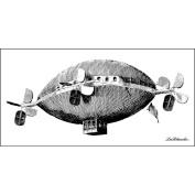 LaBlanche Silicone Stamp, 7.6cm x 14cm , Imaginative Air Balloon