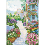 RTO Blooming Town Counted Cross-Stitch Kit, 25cm x 35cm , 14 Count