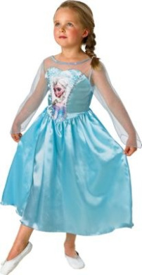 Frozen Elsa Girls Fancy Dress Costume.