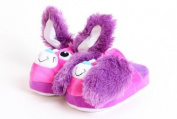 Stompeez Bunny Purple Slippers - Size XS.