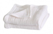Cellular Flat Cot Bed Baby Blanket - 2 Pack.