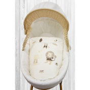 Kinder Valley Jungle Buddies Moses Basket- Cream