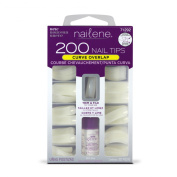 Nailene 200 Nail Tips - Curve Overlap / Natural