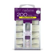 Nailene 200 Nail Tips - Curve Overlap / Natural