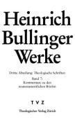 Heinrich Bullinger. Werke 3. Abteilung