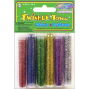 Twinkle Town Glitter Tubes 3 Grammes 6/Pkg-Assorted Colours