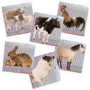 Barnyard Animal Prism Stickers
