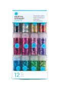 Martha Stewart Crafts Glitter, 12-Pack