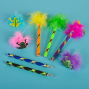 Frog Feather Pens (1 dz)