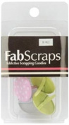 Fabscraps Painted Brads, 20mm, Pink/Green/White, 4 Per Package