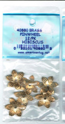 American Tag Lost Art Treasures (40880) Brass Pinwheel Hibiscus