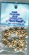 American Tag Lost Art Treasures (40885) Brass Pinwheel Dandelion