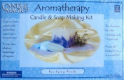 CANDLE MAGIC AROMATHERAPY CANDLE AND SOAP MAKING KIT-1 REFILLABLE CANDLE AND 3 GUEST SOAPS/CLEAN REFRESHING AROMATHERAPY OIL FRAGRANCE