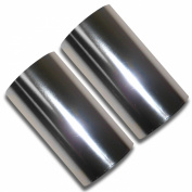 Set of 2 Hot Foil Stamp Rolls 400 Ft 2 Rolls 200 Ft Each Chrome