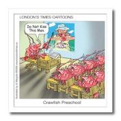 Londons Times Fish Fishing Deep Beneath Cartoons - Crawfish Preschool Cajuns R The Enemy - Iron on Heat Transfers