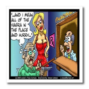Londons Times Funny Medicine Cartoons - Old Man Holds Up Pharmacy For Viagra - Iron on Heat Transfers