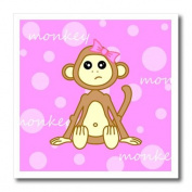 Janna Salak Designs Jungle Animals - Pink Baby Monkey Girl - Iron on Heat Transfers