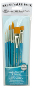 Royal Gold Taklon 6 Piece Value Pack Brush Set - Rset-9182