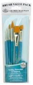 Royal Gold Taklon 6 Piece Value Pack Brush Set - Rset-9182