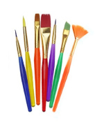 All Purpose 7-pack Art Brush Set, 7-piece Assorted Kids Brush Set