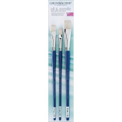 Grumbacher 760.SET2 Academy Hog Bristle Oil and Acrylic Paint Brush Set #2