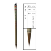 0.7x2.7cm Middle Shanshui Landscape Wolf Hair Shuangyang Chinese Calligraphy and Painting Brush