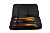 Grace Art Brush Storage Case With Bonus Brush Set BCS007