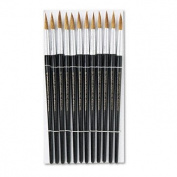 Charles Leonard 73512 - Artist Brush, Size 12, Camel Hair, Round, 12/Pack-LEO73512