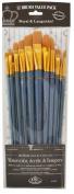Royal Brush Manufacturing Royal and Langnickel Zip N' Close Brush Set, Medium Gold Taklon