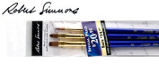 Robert Simmons Sapphire Short Handle Basic Brush Set of 3