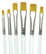 Aqualon Royal and Langnickel Short Handle Paint Brush Set, Shader, 6-Piece