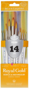Royal Gold Royal and Langnickel Short Handle Paint Brush Set, Round, 14-Piece