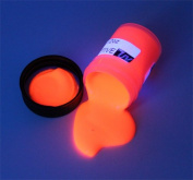 ORANGE UV Black Light 2oz (60ml), Neon, Rave, Fluorescent, Acrylic Paint