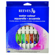 Reeves 18-Pack Water Colour Tube Set, 10ml