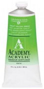 Grumbacher 90-ml Metal Tube Academy Acrylic Paint, Thalo Yellow Green