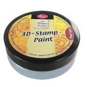 Viva Decor 119390236 3D Stamp Paint, Silver