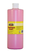 School Smart Tempera Paint - Quart - Pink