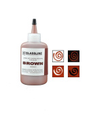 Brown GLASSLINE FUSING PAINT PEN 60ml Bottle