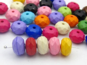 Come2buy Pony Beads 100 Pcs 7*12mm DIY Faceted Candy Mixed Colour Beads ~Jewellery Making~