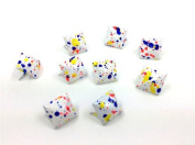 Adored Painted Colourful Spot Pyramid Studs 100pcs 12MM WHITE Metal Claw Beads Nailhead Punk Stud Rivet Spike CellPhone Decoration Leathercraft